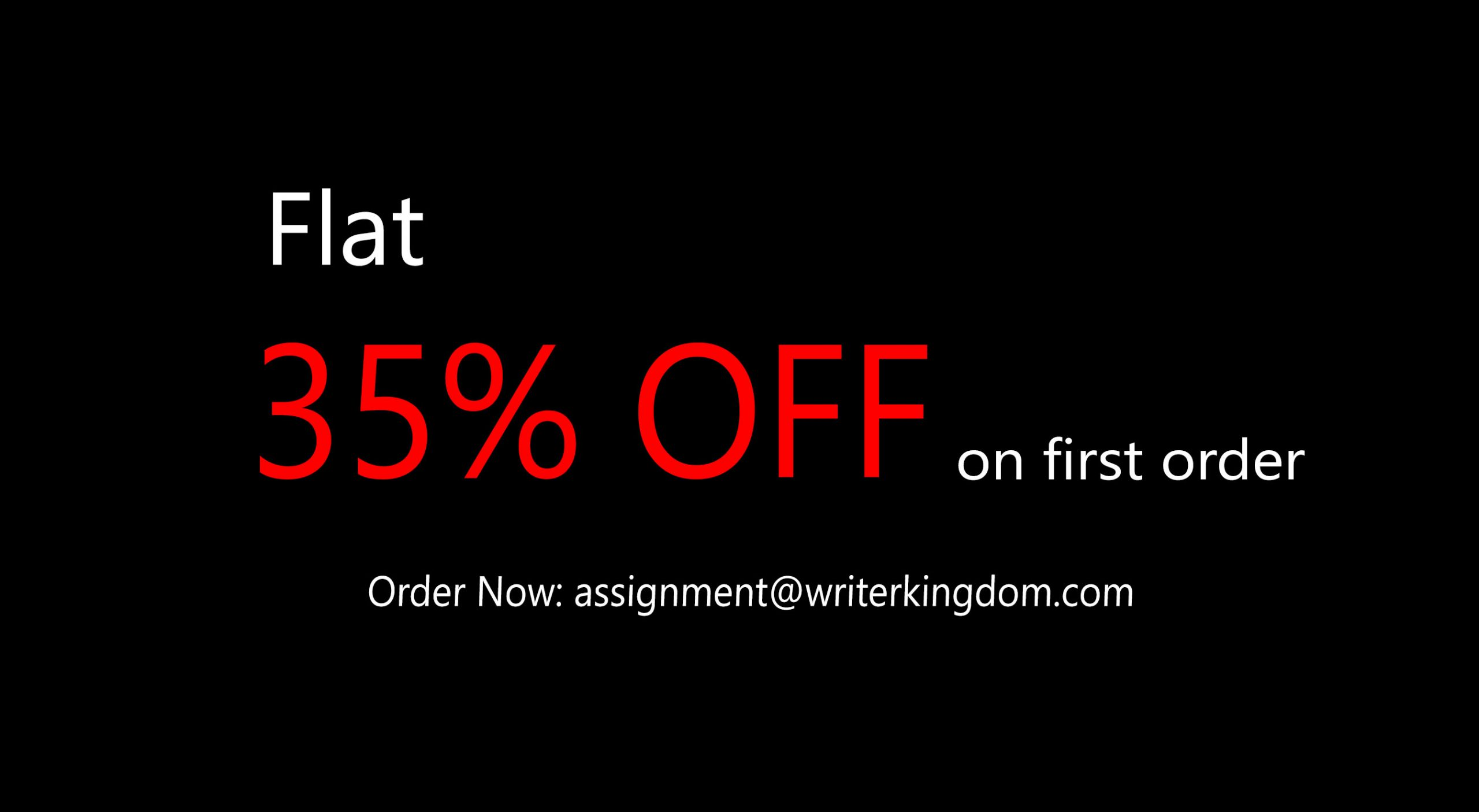 Flat 35% OFF on your first order